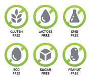 Free Food Allergen Icons Stock Photo - 48564680