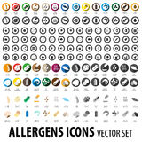Food allergens icons pack Royalty Free Stock Photo