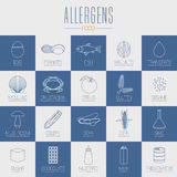 Food allergic, GMO symbols vector Royalty Free Stock Photo