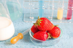 Food allergy and research in the lab Stock Image