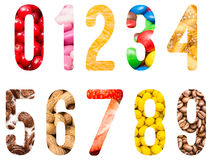 Food Alphabet Numbers Isolated Stock Photography