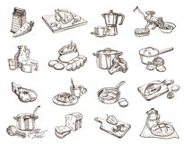 Food And Cookware Royalty Free Stock Images