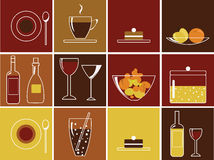 Free Food And Drink Icons Stock Photo - 12501190