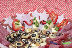 Food - appetizer plate Royalty Free Stock Photos