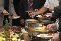 Food arrangement 8. Close up buffet table arrangement cattering Royalty Free Stock Image