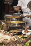 Food arrangement 9. Close up buffet table arrangement cattering Stock Photos