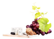 Food assortment for red wine Royalty Free Stock Photo