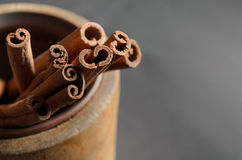 Food Background of Cinnamon Sticks Royalty Free Stock Photos