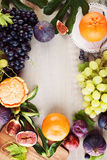 Food Background with Colorful Fruit Stock Images