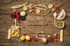 Food background concept with copyspace. stock photography
