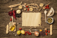 Food background concept with copyspace Royalty Free Stock Image