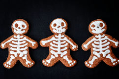 Food background with cookies in the form of monsters Royalty Free Stock Photo