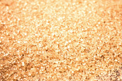 Food background with copy space. Shiny Brown sugar on wooden bac Royalty Free Stock Image