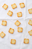 Food background with croutons Royalty Free Stock Image