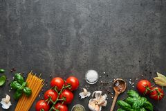 Free Food Background For Tasty Italian Dishes Stock Image - 118593211