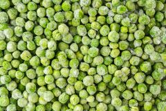 Frozen Green Peas Close Up Top View. Food Background stock image