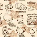 Food background, lasagna ingredients Royalty Free Stock Image
