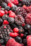 Food background,mixed frozen berries fruits Stock Photo