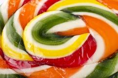 Food background - Multicolored lollipop Stock Photo