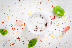 Food background with spices Stock Photography