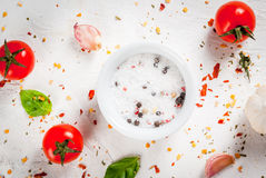 Food background with spices Stock Images