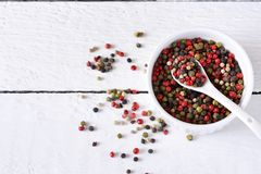 Food background with spices. A mixture of bell peppers royalty free stock images