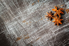 Food background with star anise Stock Photography