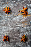 Food background with star anise Stock Image