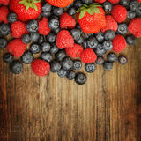 Food background - summer berries Stock Photography