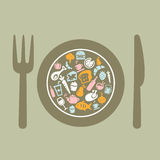 Food Background royalty free illustration