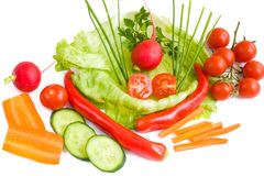 Food background with vegetables Royalty Free Stock Image