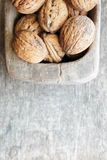 Food background, walnuts. Royalty Free Stock Images