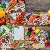Food Backgrounds wth Fish Stock Photos