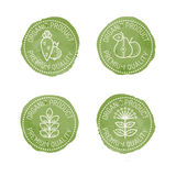 Food Badges for organic products. Royalty Free Stock Images