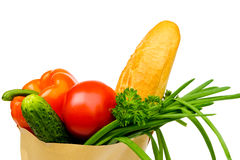 Food in the bag Royalty Free Stock Photography