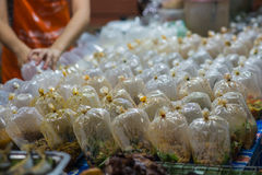 Food bags on the Thailand market Stock Photography
