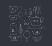 Food baking and equipment sketch icon Royalty Free Stock Image