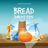 Food baking ingredients vector background Stock Photos