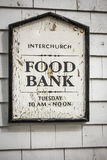 Food bank sign Royalty Free Stock Photography