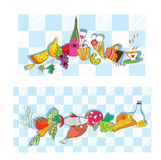 Food banners for restaurant and cafe. Set Royalty Free Stock Images