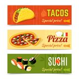 Food Banners Set Royalty Free Stock Photography