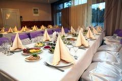 Food at banquet table. Wedding royalty free stock photo