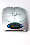Food bascule to weigh. Food Weighing Scales glass base Stock Photos