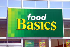 Food Basics Sign royalty free stock images