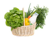 Food in Basket Royalty Free Stock Photography