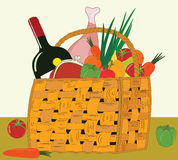 Food baskets1 Stock Images