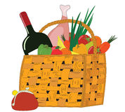 Food baskets4 Stock Photo