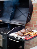 Food by the BBQ Stock Photos