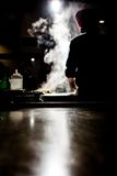 Food being brepared at japanese steakhouse Stock Images