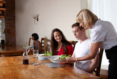 Food being served in a restaurant Royalty Free Stock Image